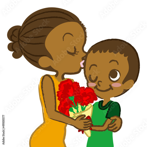 Mother's Day,Mother and son, African