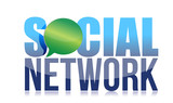 Template of the sign – social network