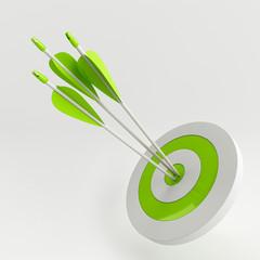 Arrow and target