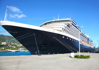 The cruise liner in port