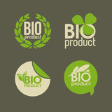 Bio product - vector labels and badges