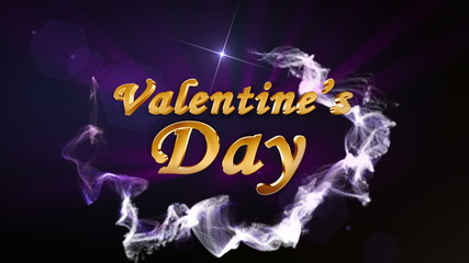 Valentine's Day, Text in Particle Blue - HD1080
