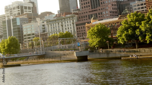 People walking on Yarra River Melbourne