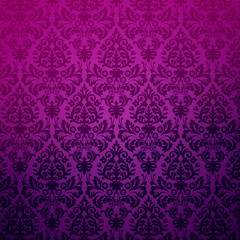 Damask floral pattern, vector Eps 10 illustration.