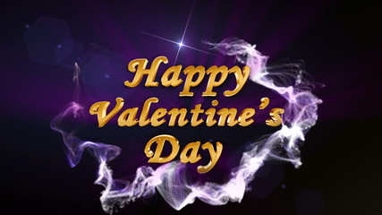 Happy Valentine's Day, Text in Particle Blue - HD1080