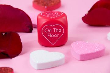 Valentine play dice