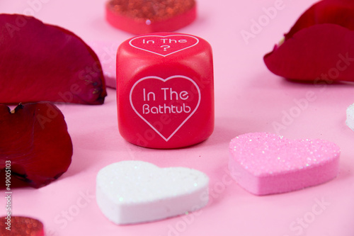 Valentine play dice
