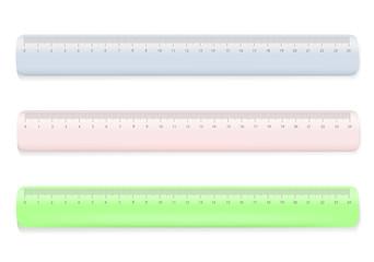 Color ruler on white