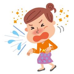花粉症 くしゃみが止まらない女性