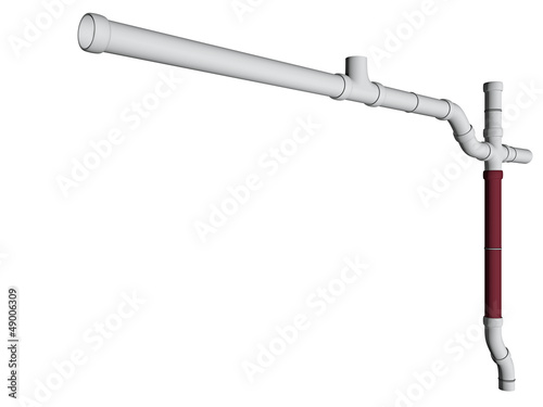 conduit on white background - 3D