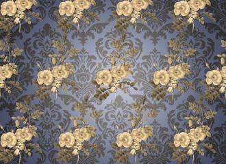 floral design background, vintage and ancient