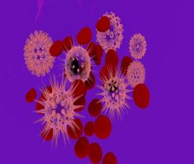 virus al microscopio