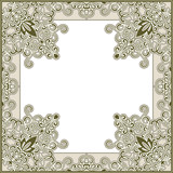 Ornamental square frame template
