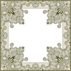 Ornamental square frame template