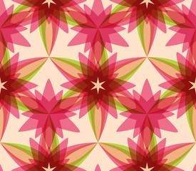 Abstract seamless kaleidoscopic pattern