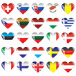 Hearts of European countries