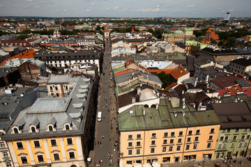 KRAKOW, POLAND - JULY 18: An aerial view