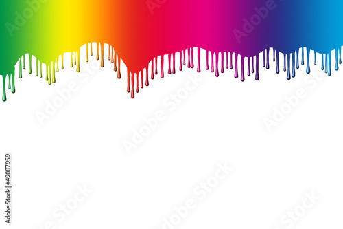 Rainbow colours with drips