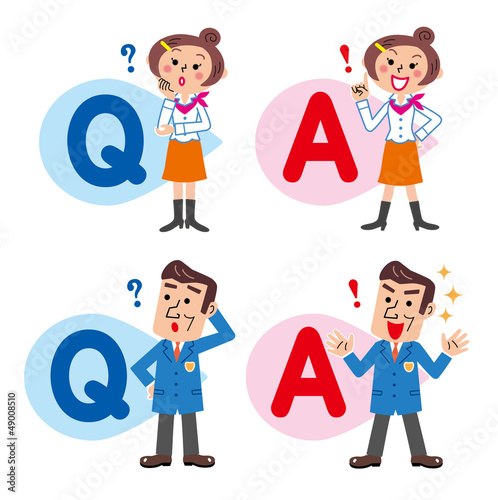 Q&A 質問と回答 男女