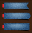 Jeans background, stickers, labels, tags