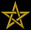 Pentagramm - Gold auf Schwarz - Stern der Magier