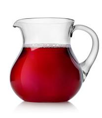 Pomegranate juice in a jug