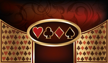 Poker business card, vector illustration