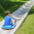 Schußfahrt auf der Sommerrodelbahn
