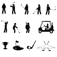 A set of golf icons
