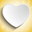 Valentine Day Heart on Gold Background
