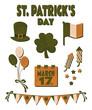 St. Patrick's Day Design Elements Set