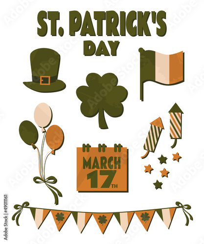 St. Patrick's Day Design Elements Set