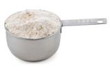 Plain / all purpose flour presented in a cup measure