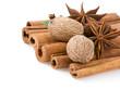 cinnamon, anise star and nutmeg