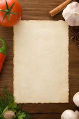background for cooking recipes