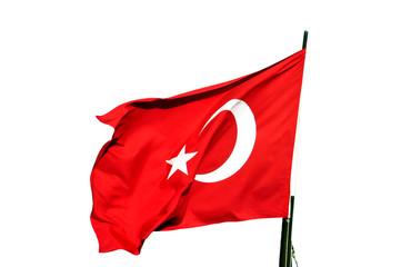 Eine türkische Flagge im Wind