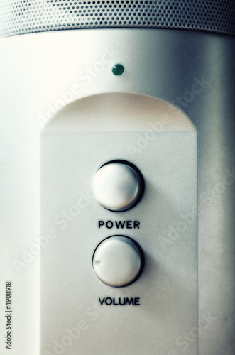 Power button and volume knob