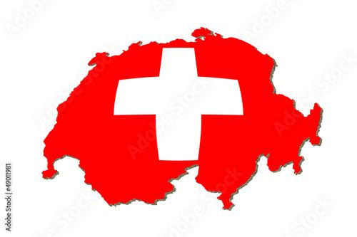 Schweiz aufgeblasen