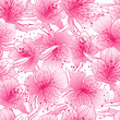 Abstract gradient seamless flower pattern with orchid.