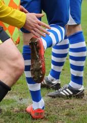 contrôle des crampons au football