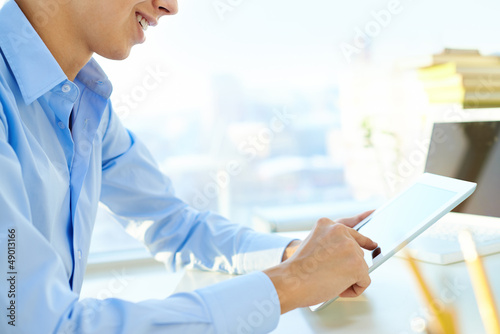 Guy with a digital tablet