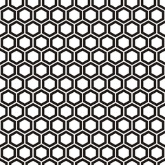Vector illustration of seamless pattern with honeycombs