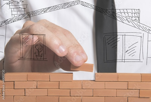 Businessman builds a new house