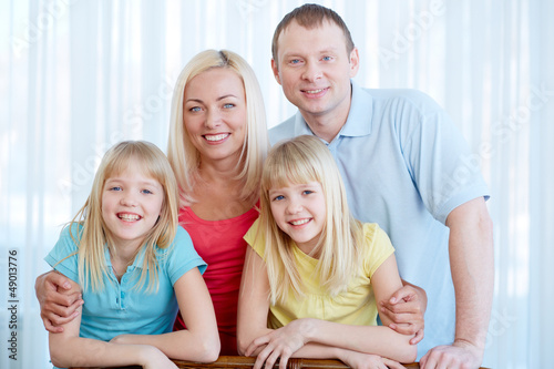 Cheerful family