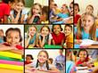 Detaily fotografie Classmates in school