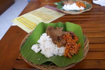 インドネシア中部の伝統的な料理 グドゥッ