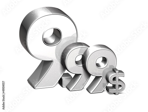 3D Silver Special Price USD collection over white background