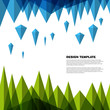 Vector diamond background concept - design template
