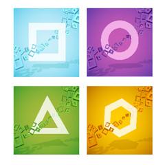 Geometric colorful shapes