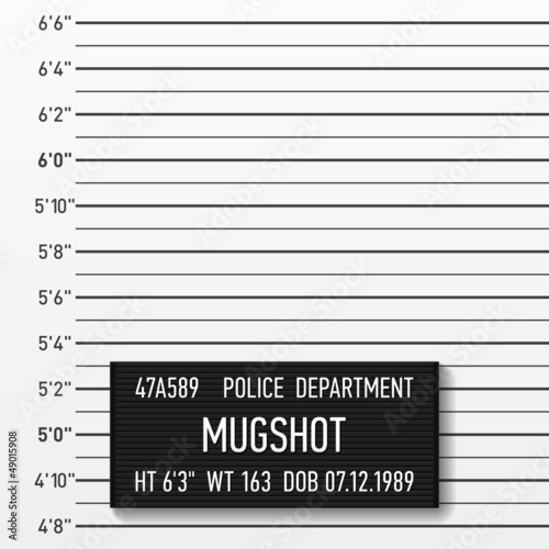 Police mugshot. Add a photo.